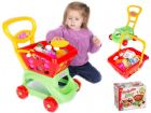 Toy Shopping Trolley Supermarket Cart Grocery Playset with Play Food